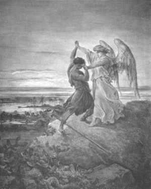 Jacob Wrestling with the Angel - Gustave Doré (1855)