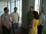 Chatting at the Liberty Bell Exhibition