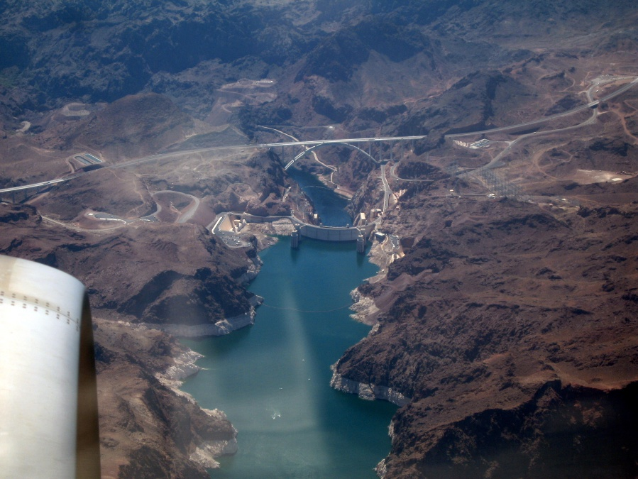 The Hoover Dam from the Air when Flying into Las Vegas | Alastair's