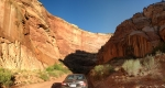 Driving Through the Gorge at Capitol Reef