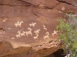 Petroglyphs at Arches National Park