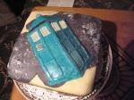 Tardis Christmas Cake
