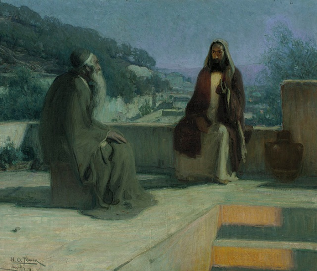 Henry Ossawa Tanner - Nicodemus and Jesus on a Rooftop