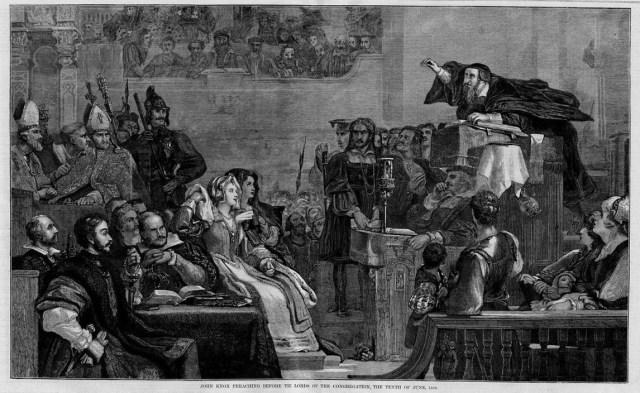 John Knox Preaching