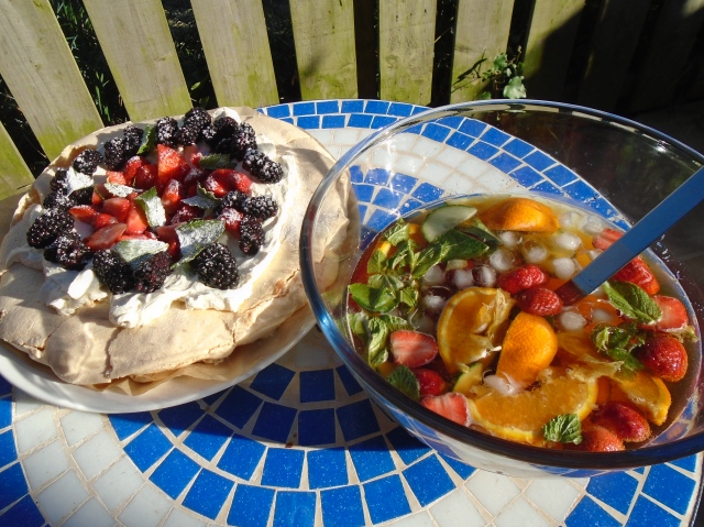 Pimms and pavlova on a summer's day