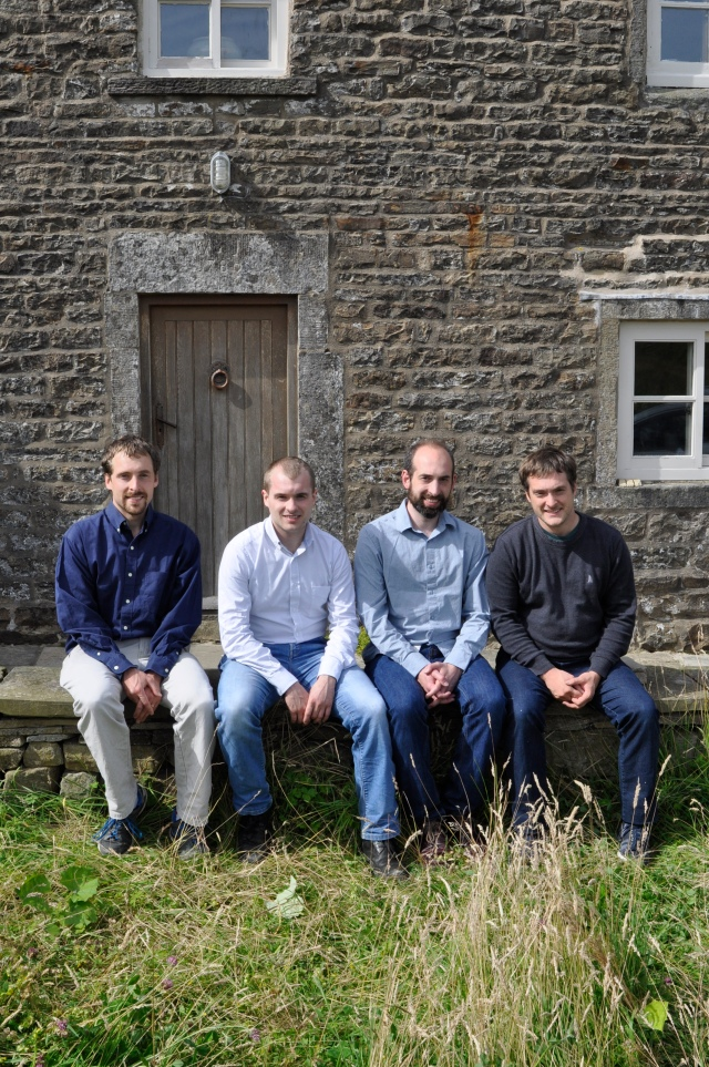 With my brothers in the Dales